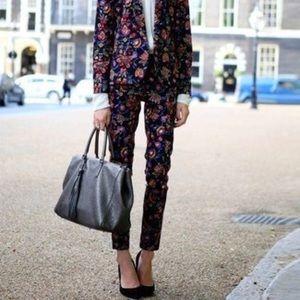 Topshop floral printed work career pants 4